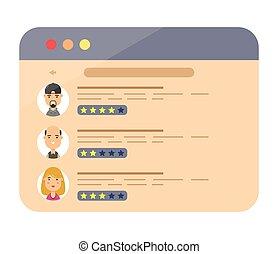 sito web, discorsi, valutazione, revisione