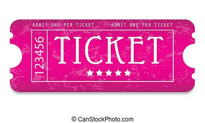 sito web, grunge, biglietto film, tuo, speciale