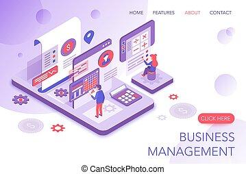 sito web, isometrico, finanziario, interagire, persone affari, amministrazione, schermo, moderno, tabelle, virtuale, pagina, corporativo, vettore, analizzare, atterraggio, marketing, statistica, template., statistics., 3d