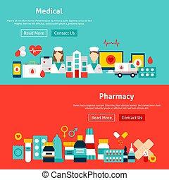 sito web, medicina, bandiere