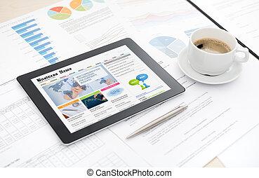 sito web, notizie, tavoletta, affari, digitale