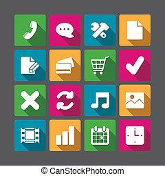 sito web, ombre, elementi, quadrato, navigazione, avanzato