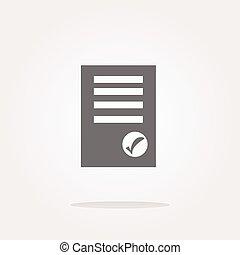 sito web, redigere, bottone, moderno, button., illustrazione, segno, contenuto, vettore, ui, icon., documento