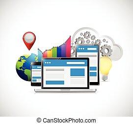 sito web, seo, concetto, optimization