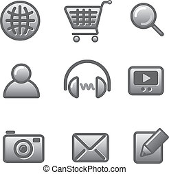 sito web, set, icona