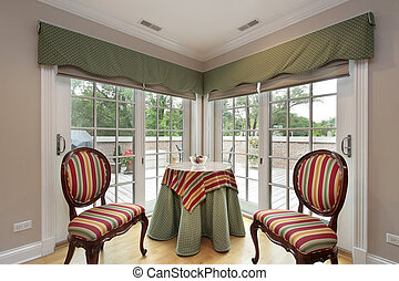 Sitting area with balcony view
