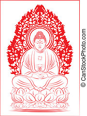 Buddha. - Sitting Buddha.