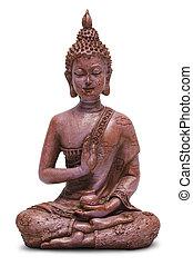 Buddha - Sitting Buddha Statue Isolated on a White...