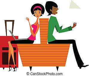 sitting Couple
