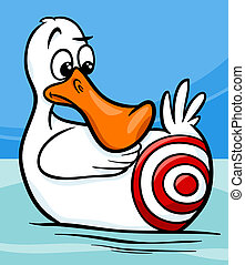 sitting duck saying cartoon illustration - Cartoon Humor...