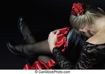 Sitting Flamenco Dancer