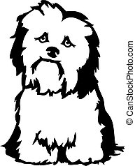 Bichon Clipart Vector Graphics. 2 new images added for ...