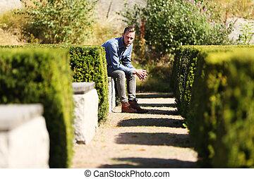 Sitting in a maze