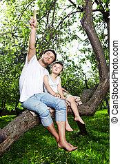 Sitting on a tree