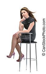 sitting on stool girl