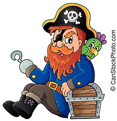 Sitting pirate theme image 1