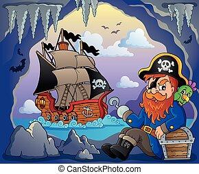 Sitting pirate theme image 5