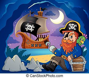 Sitting pirate theme image 7