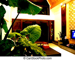 sitting room  - Green living room