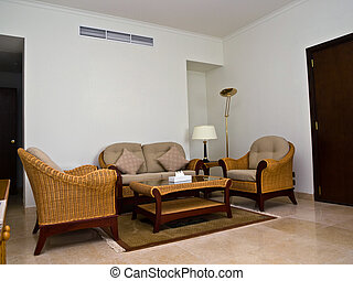 sitting-room with table and chairs