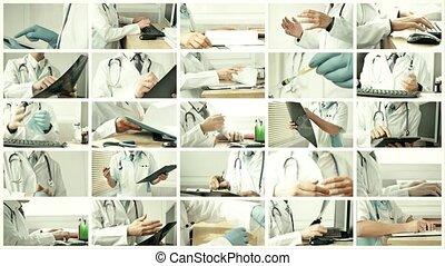 situations, docteur médical, différent