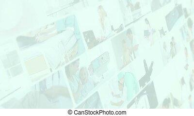 situations, montage, genres, différent, monde médical