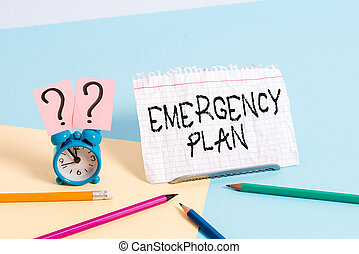 situations., text, handschrift, bedeutung, plötzlich, notfall, begriff, unerwartet, behandlung, plan., schreibende, oder, verfahren