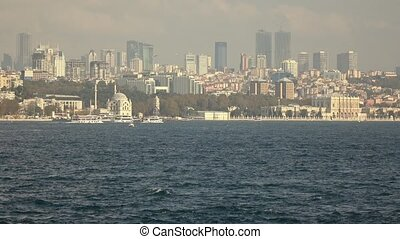 Sityscape from Bosphorus strait to the modern distruct of...