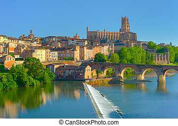 Albi in a summer sunny day