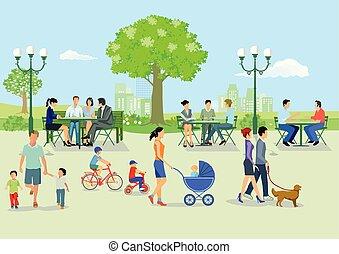 sitzen im Park