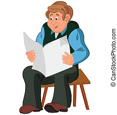 Altes sitzen sessel zeitung lesende mann seine for Alter mann im schaukelstuhl