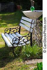 sitzplätze, kleingarten, bequem