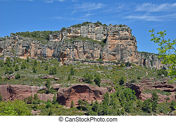 Siurana cliffs in the Prades mountains
