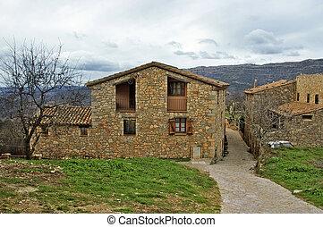 siurana, méditerranéen, village