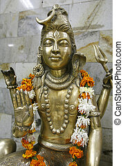 siva - statue of lord shiva, delhi, india