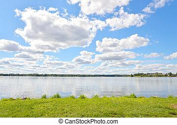 Siverskoe lake at summer.