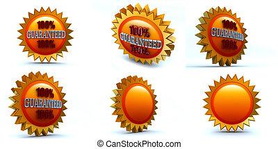 guaranteed - six 3d renders, 100 guaranteed badge