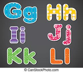 Six alphabet letters
