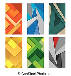 Background Unusual modern material design Vector Illustration.