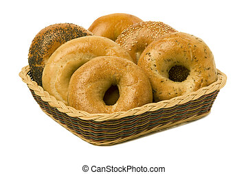 Six Bagels in a Basket