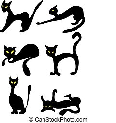 six black cats
