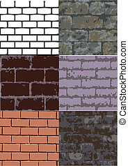 six brick texture - a set of six different brick texture