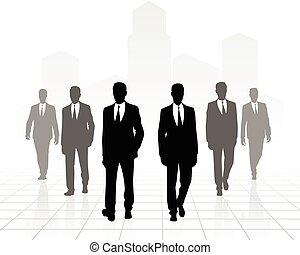 Six businessmen going forward