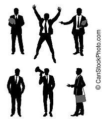Six businessmen set - Vector illustration of a six...