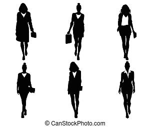 Six businesswomen going