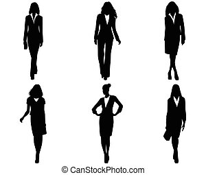 Six businesswomen posing