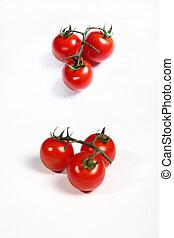 six cherry tomatoes