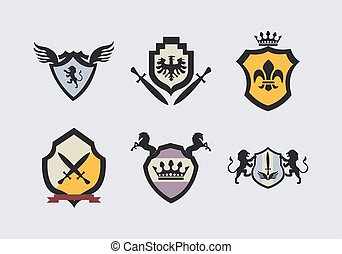 six coats of arms