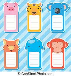 cute animals set of scrapbook elements - six cute animals...