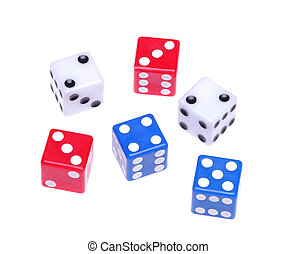 Six Dice Separated